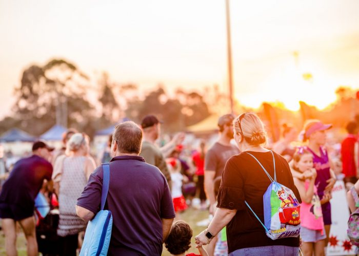 The sun sets at the end of the day at the Burpengary Christmas Spectacular.
